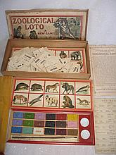 Rare Jaques & Son 'Zoological Loto' 1890-1900s England. Looks complete, ins