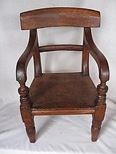 Vintage hardwood toddler chair in excellent condition