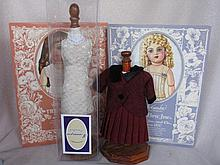 Mixed Doll Accessories:- includes antique handmade lace, Antique wax over c