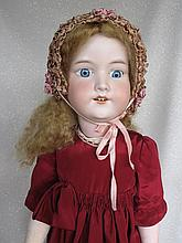 Bisque 64cm Armand Marseille 'My Dearie' 390n. Blonde mohair new wig/pate,