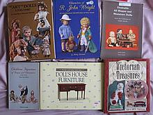 Eight mixed reference books: Art of Dolls 1700-1940/Merrill, Making Dolls H