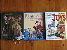 Nine mixed reference books: 10th Edition Collecting Toys by O'Brien, Dolls