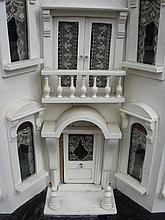 Antique wood two story G & J Lines Dolls House c1909 - 1910 excellent