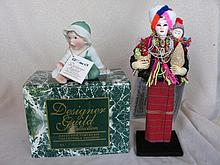 Fifteen Mixed Dolls includes:- unstrung 1920s s/head 16cm with reglue head,