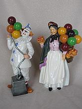Two Royal Doulton Figurines, Biddy Penny Farthing & Balloon Clown