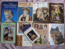 Nine doll reference books: China dolls, Richter China Parian, Treasury Kath