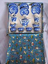 Boxed unused 15 piece Japan child Toy Tea Set,