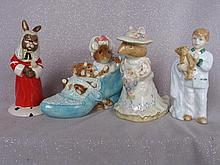 Four Ornaments:- Royal Doulton Judge Bunnykins /