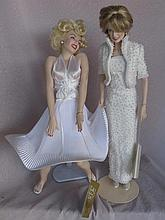 Two porcelain 43cm Dolls:- Princess Diana in Elvis