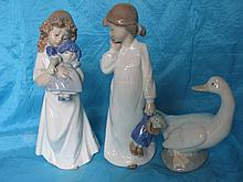 Three collectable Spain Llardo NAO figurines:- Two