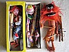 Six (6) 1960s Pelham Puppets:- Boxed Clown, Prince
