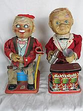 Two 60s TN Nomura Rosko Japan tin litho toys