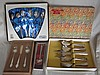 Decorative 50s vintage boxed Silverware includes:-