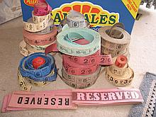Reels of vintage Movie / Entry tickets