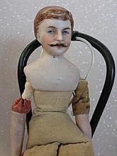 Naked German 1900 Dollshouse Mustache man