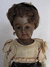 Bisque 43cm German brown painted bisque doll