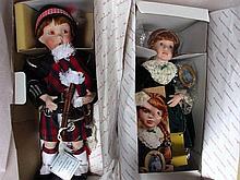 Two all original MIB Danbury Mint & Georgetown dolls