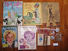Mixed Shirley Temple 1930s memorabilia