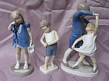 Six Royal Copenhagen vintage figurines