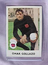 Rare soccer Scanlens 1965 'Omar Collazo' card