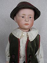 German bisque 37cm Gebruder Heubach 'Pouty' 7602 child