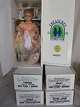 Six MIB porcelain artist dolls:- 43cm googly Lynn's Butterfly, Jelena, Vane