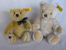Two mohair Steiff Bears