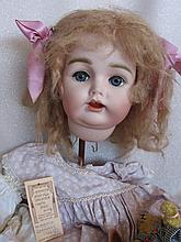 Bisque outstanding Madcin reproduction JD Kestner doll head and complete ou