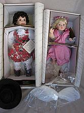 Two MIB artist porcelain dolls:- American Country Doll Collection Tanya Tuc
