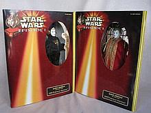 Two mint NRFB Hasbro 1999 Star Wars Episode figures