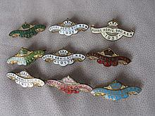 Nine exc. metal enamel Royal Agricultural Society NSW Badges:- 1913 to 1917