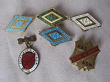 Twelve metal enamel Royal Agricultural Society NSW Member Badges 1910 - 191