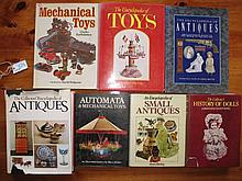 Seven mixed Toys & Antiques reference books:- Encyc Small Antiques, Automa,