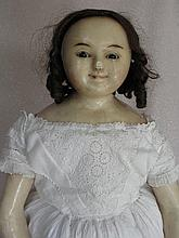 Companion c1880-90s German Reinforced Wax over doll