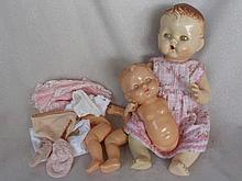 Two Australian hard plastic baby dolls:- 38cm Cherub with glazed eyes and 2