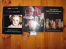 Three French Doll Reference Books:- Bru Book by Theimer, Dolls of Jules Ste