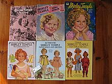 Six uncut Shirley Temple Paper Doll Books:- scarce 1942 Saalfield The new S