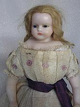 English, attributed to Meech Poured Wax Child c1870-80s turned / tilted dom