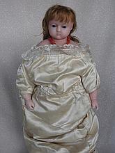 English Pierotti Poured Wax Child c1860-70s shoulderhead 18