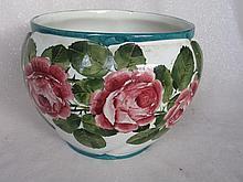 Vintage Wemyss Pottery Ware bowl, Cabbage Rose pattern