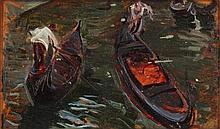 Amedeo Momo Simonetti Roma 1874 - 1922 Barche in
