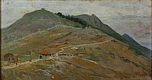 Lorenzo Cecconi Roma 1863 - 1947 Il Soratte Olio