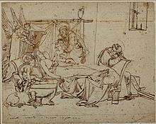 Luigi Coghetti Roma 1802 - 1884 Dormitio virginis