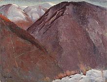 Virgilio Simonetti Roma 1897 - 1982 Montagne olio