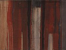 UGO RAMBALDI Spoleto 1910 Spazio rosso, 1963 Olio