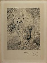 SALVADOR DALI' Figueras 1904 - 1989 Mythologi,