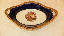 Rosenthal Hand Painted Cobalt and gold Bowl 9 1/2