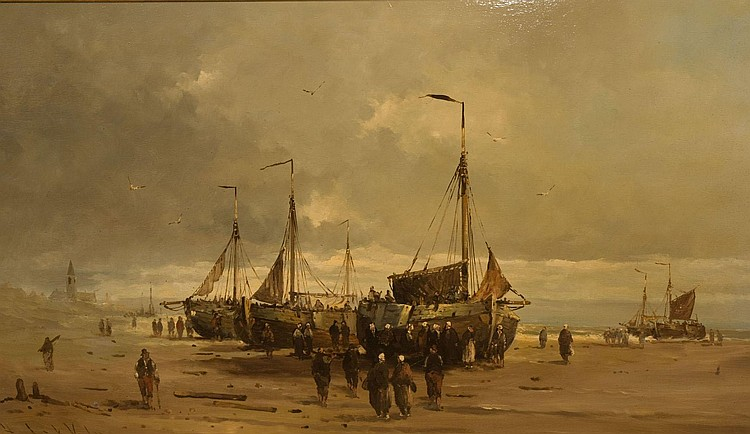 HENDRICK VADER (19th/20th CENTURY), DUTCH COASTAL