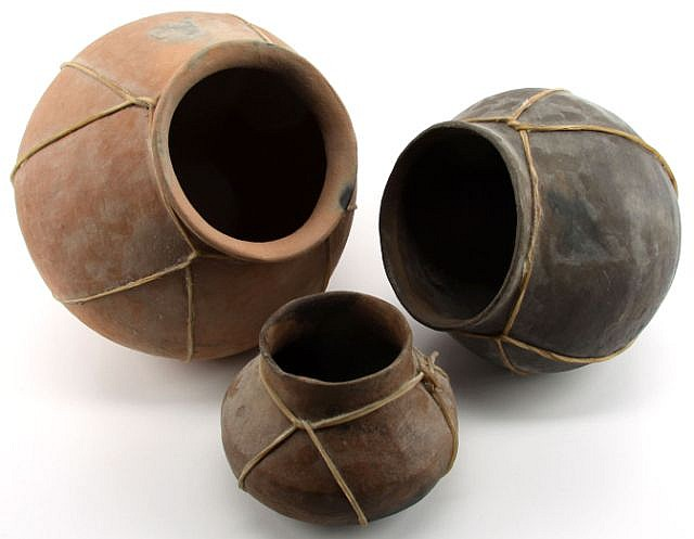 TARAHUMARA INDIAN POTTERY FROM MEXICO SET OF 3