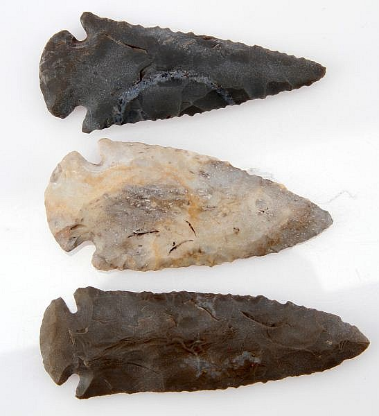 3 TENNESSEE RIVER DOVETAIL ARCHAIC ARROWHEAD LOT